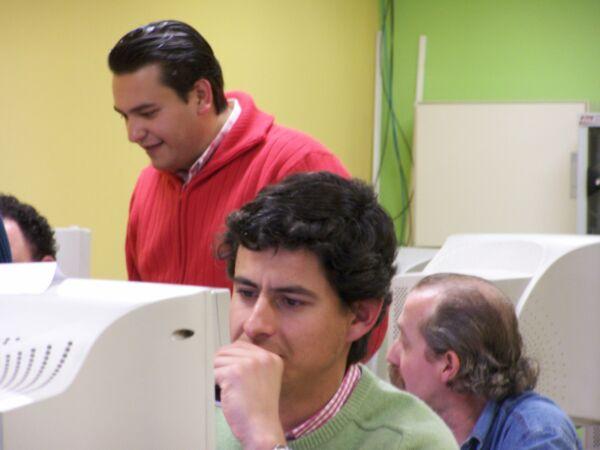 José M. Medina Gasco (el fotografo) junto a Jorge Valera y Miguel