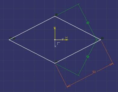 rombo simetrico