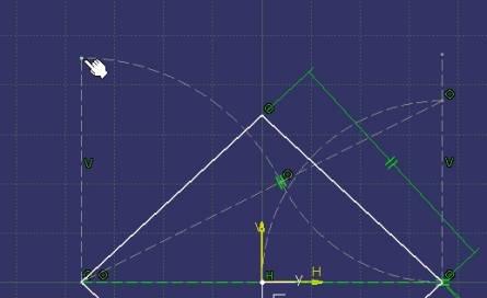 linea de long. igual a diagonal pequeña