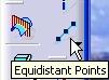 icono puntos equidistantes