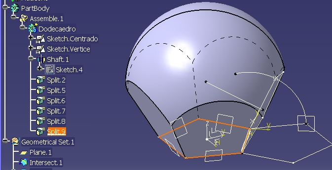esfera con 6 cortes