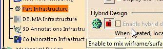Imagen: Hybrid Design desabilitado