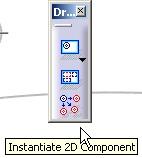 icono Instantiate 2D component