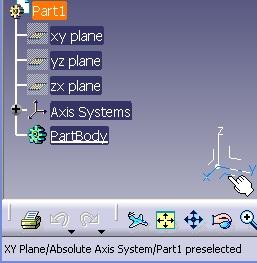 Imagen: seleccion del simbolo del plano XY