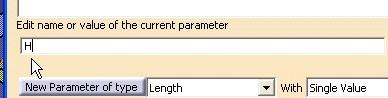 Renombrar parametro recien creado